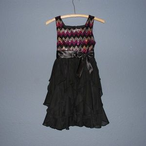 AMERICAN PRINCESS Sequin Soutache Ruffle Dress 10